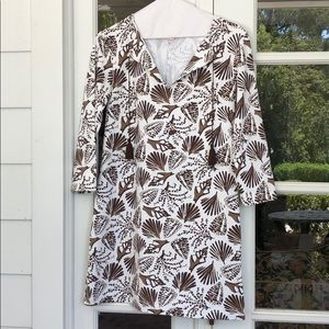 Persifor XS Brown and White Tyler Tunic dress